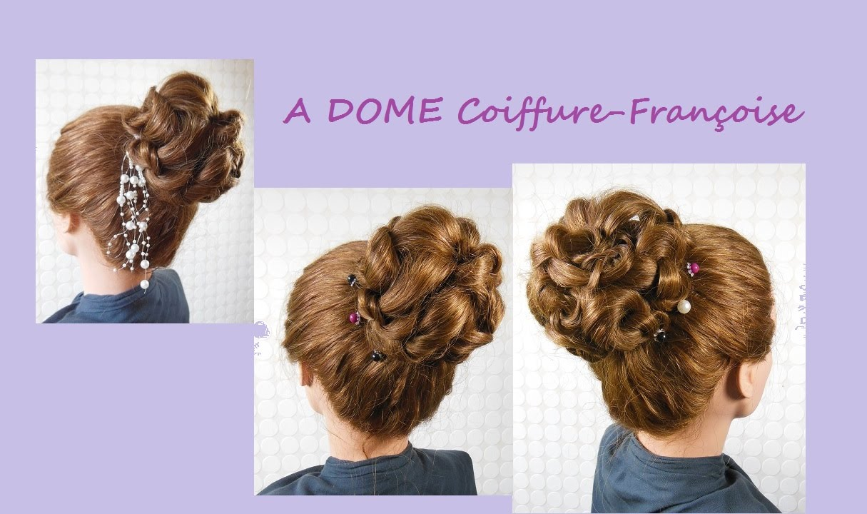 coiffure de mariage facile donut top bun wedding. Black Bedroom Furniture Sets. Home Design Ideas