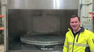 Purasolve PSR1600 Rotary Parts Washer in Use