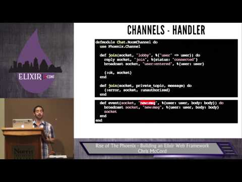 Elixir Conf 2014 -  Rise of The Phoenix - Building an Elixir Web Framework by Chris McCord
