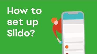 How to use Slido at your event