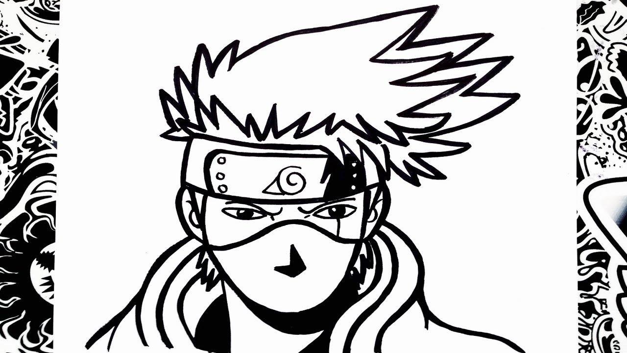 Como Dibujar A Kakashi How To Draw Kakashi