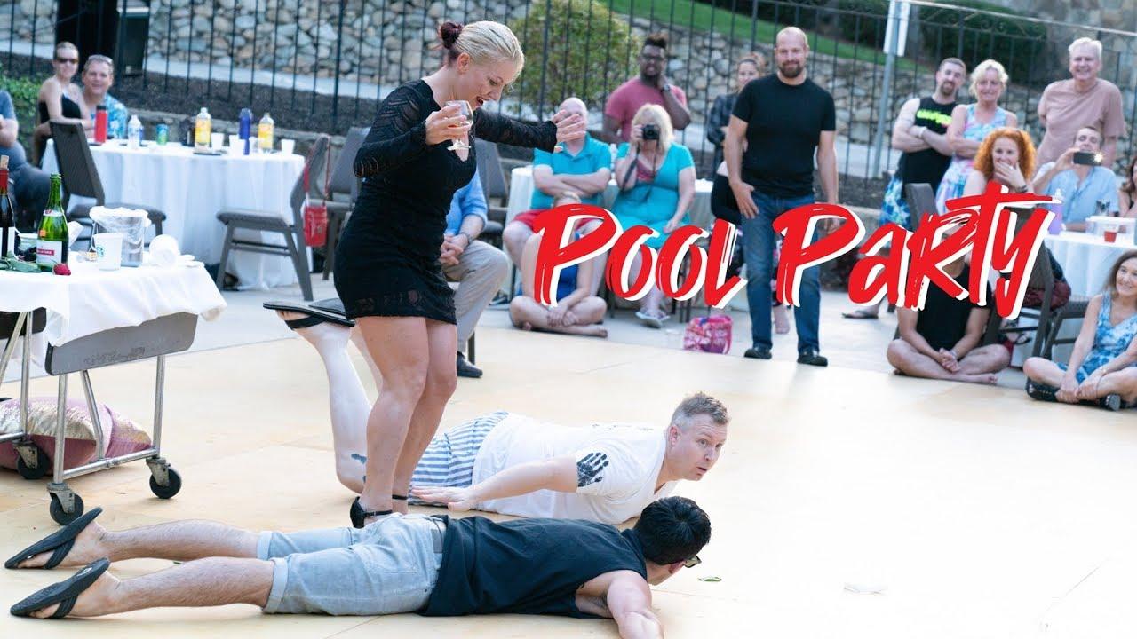 Summer Hummer 18 - Pool Party - Tatiana, Jordan & Kyle