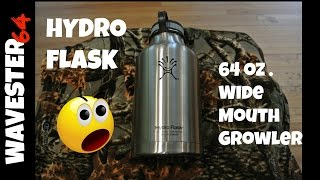 review hydro flask 64 oz wide mouth growler   water bottle