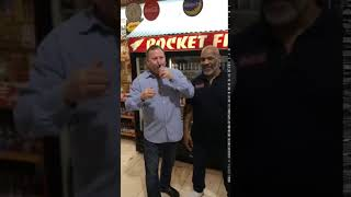 Mike Tyson visits Rocket Fizz Westwood