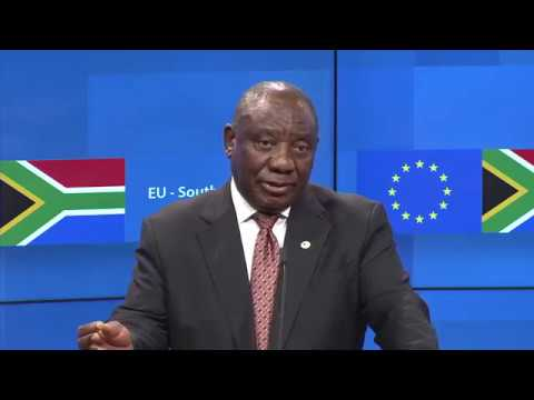 Pres. Ramaphosa addresses the EU-South Africa Summit Part 2