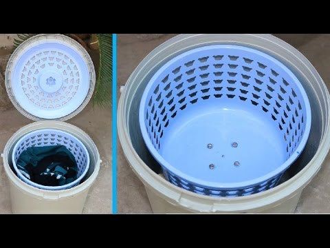 How to Make a SPIN DRYER using Bucket & Basket  Very Easy