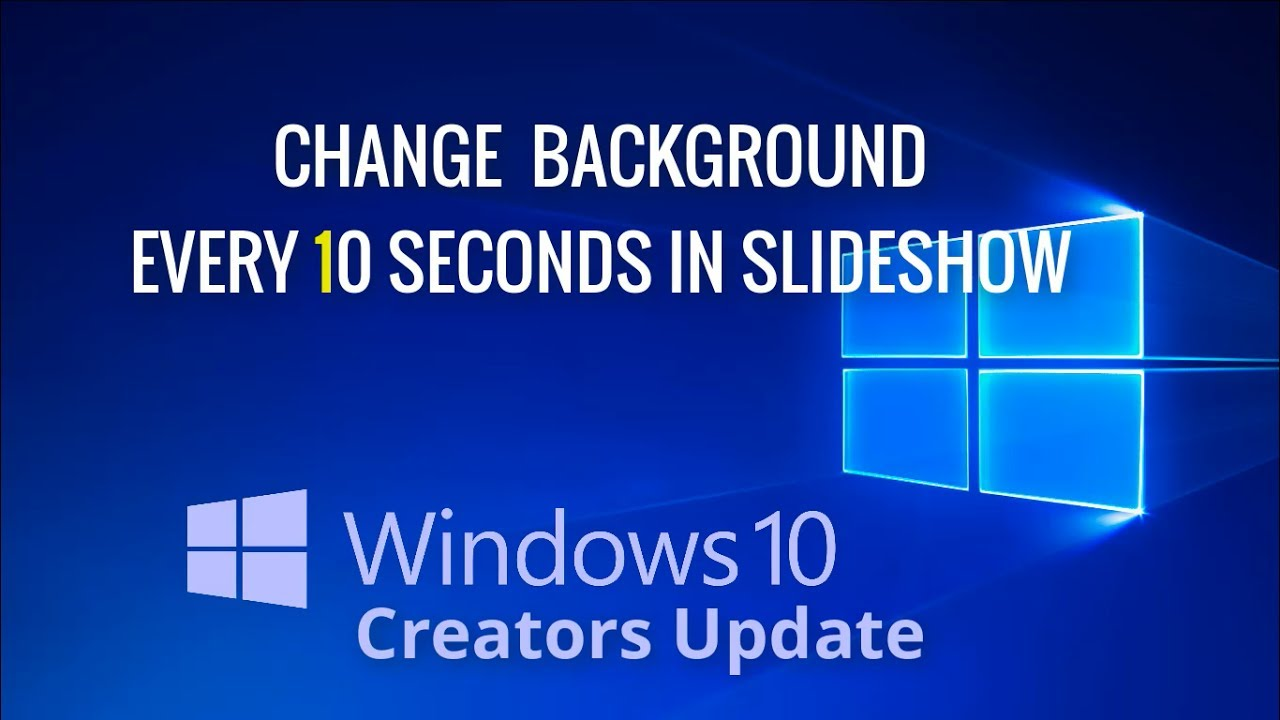 how to make your computer background change every 2 seconds