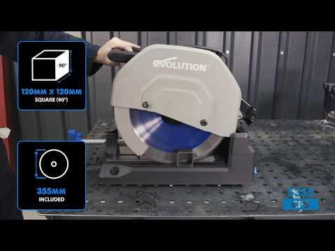 Evolution 66TBlade 355мм диск за рязане на стомана / EVOLUTION 66TBLADE / видео