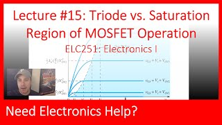 ELC251-15: Triode vs. Saturation Regions of MOSFET Operation (Ch05, Lec15)