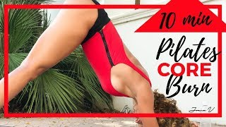 10 min CORE Pilates BURN Workout  Best PILATES Exercises for Sexy and FLAT Abs  Strong Core