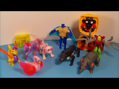 1995 LITTLEST PET SHOP / TRANSFORMERS SET OF 10 McDONALD'S HAPPY MEAL TOY'S VIDEO REVIEW