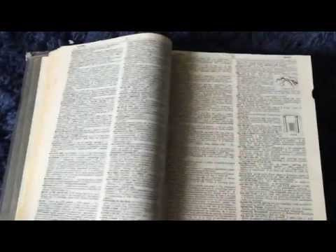 Webster Second Edition Dictionary Printed in the Late 1800s