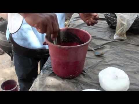 Batik Fabric Printing in Ghana