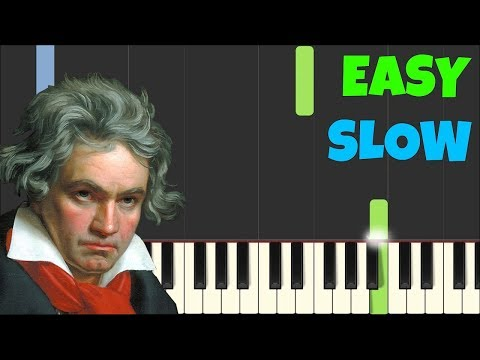 HOW TO PLAY Für Elise for Beginners Slow [Easy Piano Tutorial] (Synthesia)