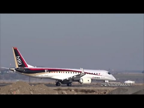 First Mitsubishi Regional Jet MRJ90 Test Flight Departure @ Moses Lake