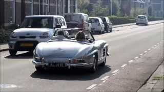 Loud classic sportscars accelerating P2: Talbot Lago, Bugattis, Jaguars, a 300SL and many more