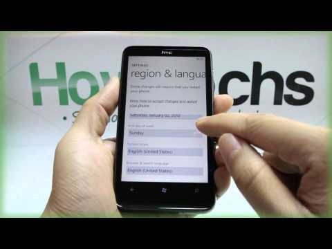 How to Change the Region and Language on HTC HD7