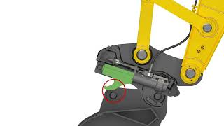 Video still for Example of using a hydraulic Quick Coupler without a Front Lock