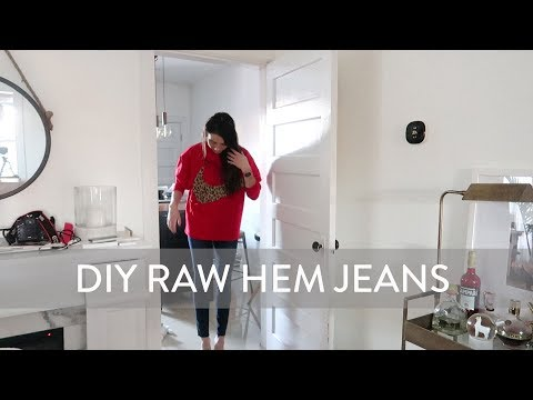 DIY Raw Hem Jeans | How to Distress Jeans