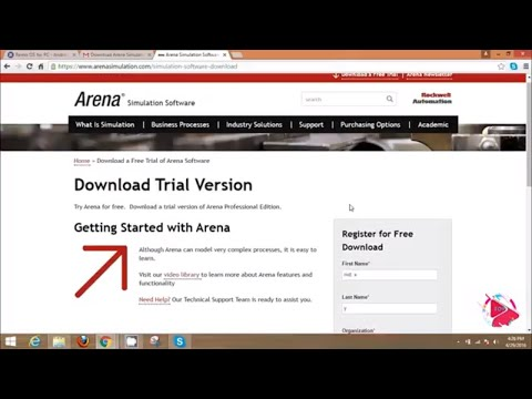 Arena Simulation Software download and free example - YouTube