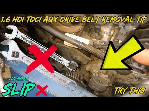 1.6 HDI TDCI Auxiliary Drive Belt Removal Tip - Peugeot Citroen Ford Volvo