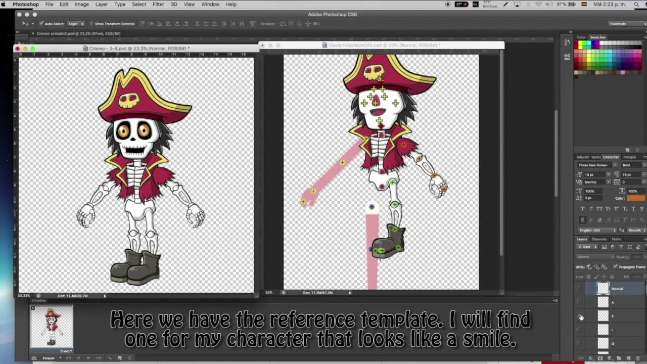 CrazyTalk Animator 3 Tutorial (SPANISH) - Create custom G3 Character with  PSD by Lunacreciente
