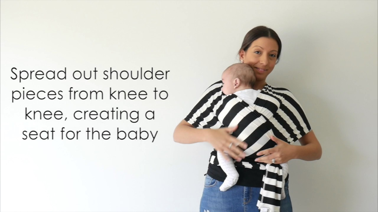 How To Put Your Baby In Your Vixsa Baby Wrap Carrier Youtube