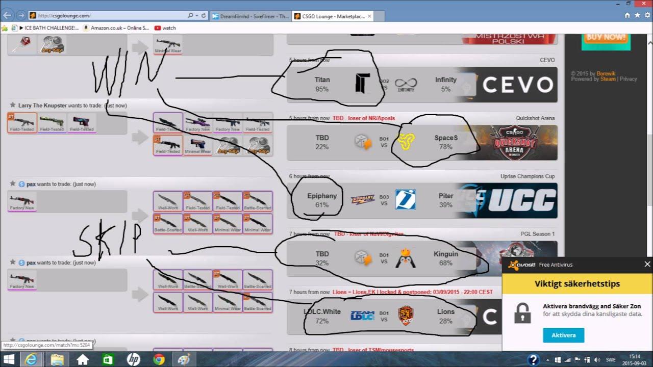 Trkh csgo lounge betting minimizador pari mutuel betting calculator