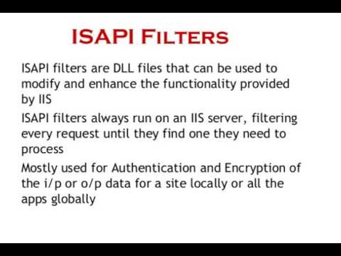 ISAPI Filters in IIS