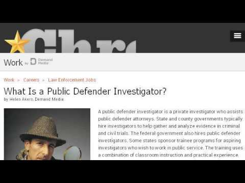 Duties Of A Federal Public Defender Investigator - YouTube