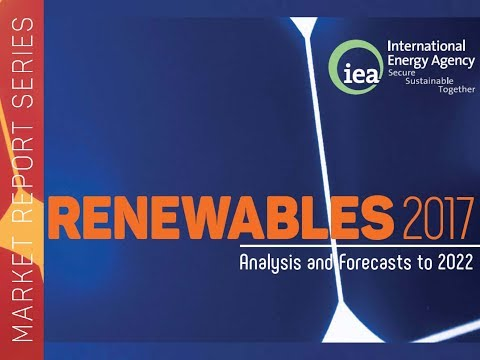 Presentación del Market Report Renewable Energy 2017 IEA. Madrid 29.01.18