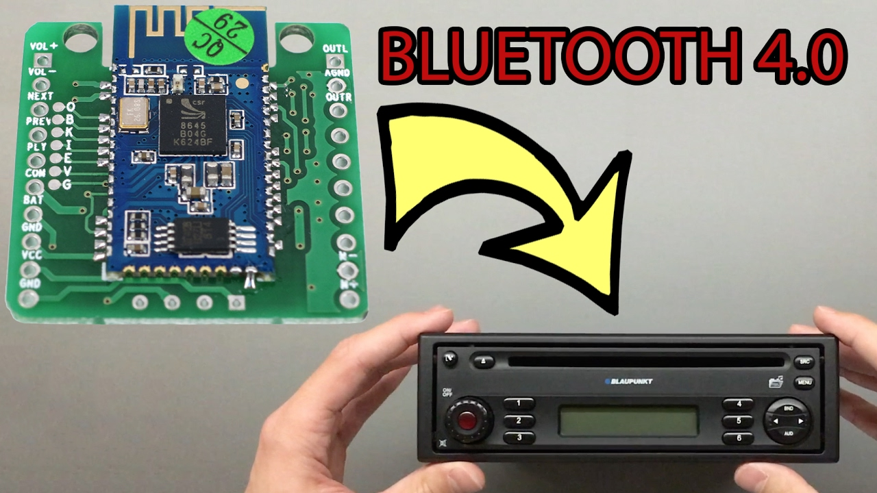 How to Add Bluetooth 40 to Any Car Stereo for 12