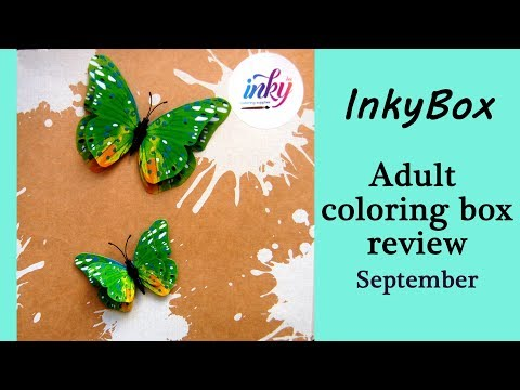 Review of the InkyBox. Adult Coloring Box for September