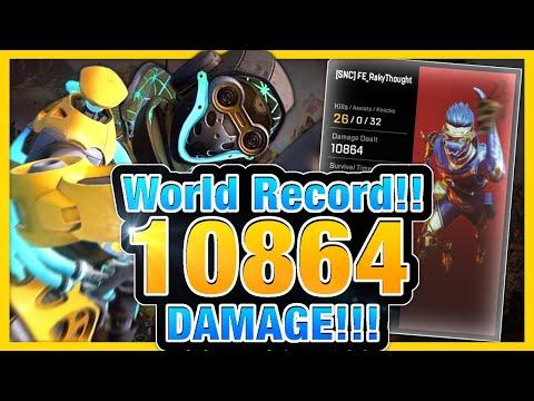 """""""世界新記録""""10864ダメージを叩き出す日本人 / FULL PARTY WORLD RECORD 【Apex Legends】"""