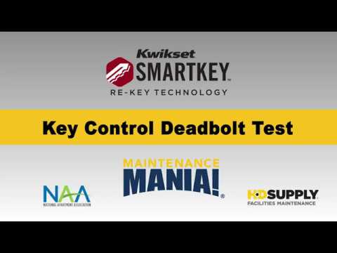 Maintenance Mania - 2018-2019 - Kwikset Key Control Deadbolt Test
