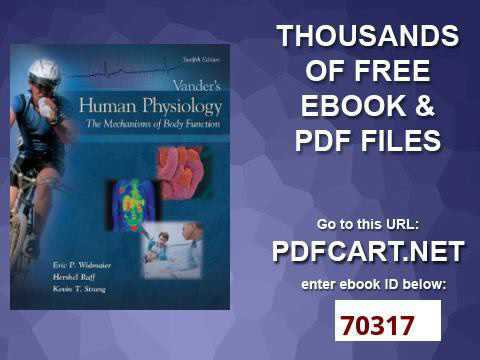 Vander human physiology 13th pdf