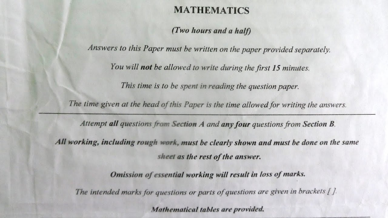 ICSE Mathematics 2017 Solved Question Paper