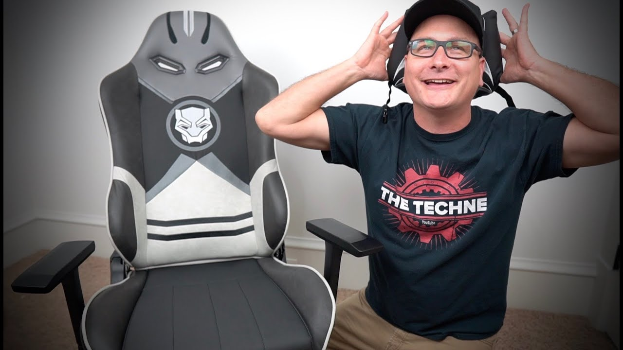 Awesome Marvel Black Panther Gaming Chair Review!!
