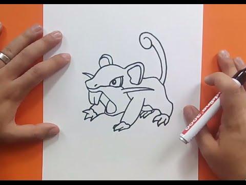 Worksheet. Como dibujar a Rattata paso a paso  Pokemon  How to draw Rattata