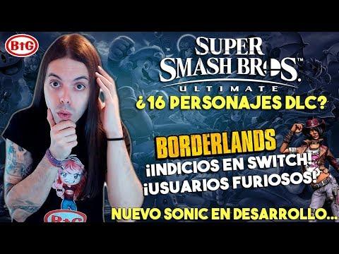 ¡SMASH BROS podría tener 16 PERSONAJES DLC! | BORDERLANDS 2 en SWITCH y POLÉMICA en PC | Nuevo Sonic thumbnail