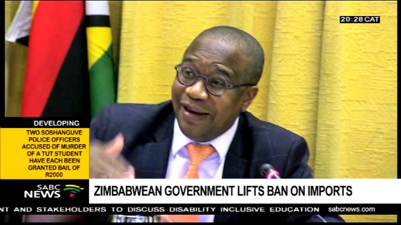 Zimbabwean govt lifts ban on imports