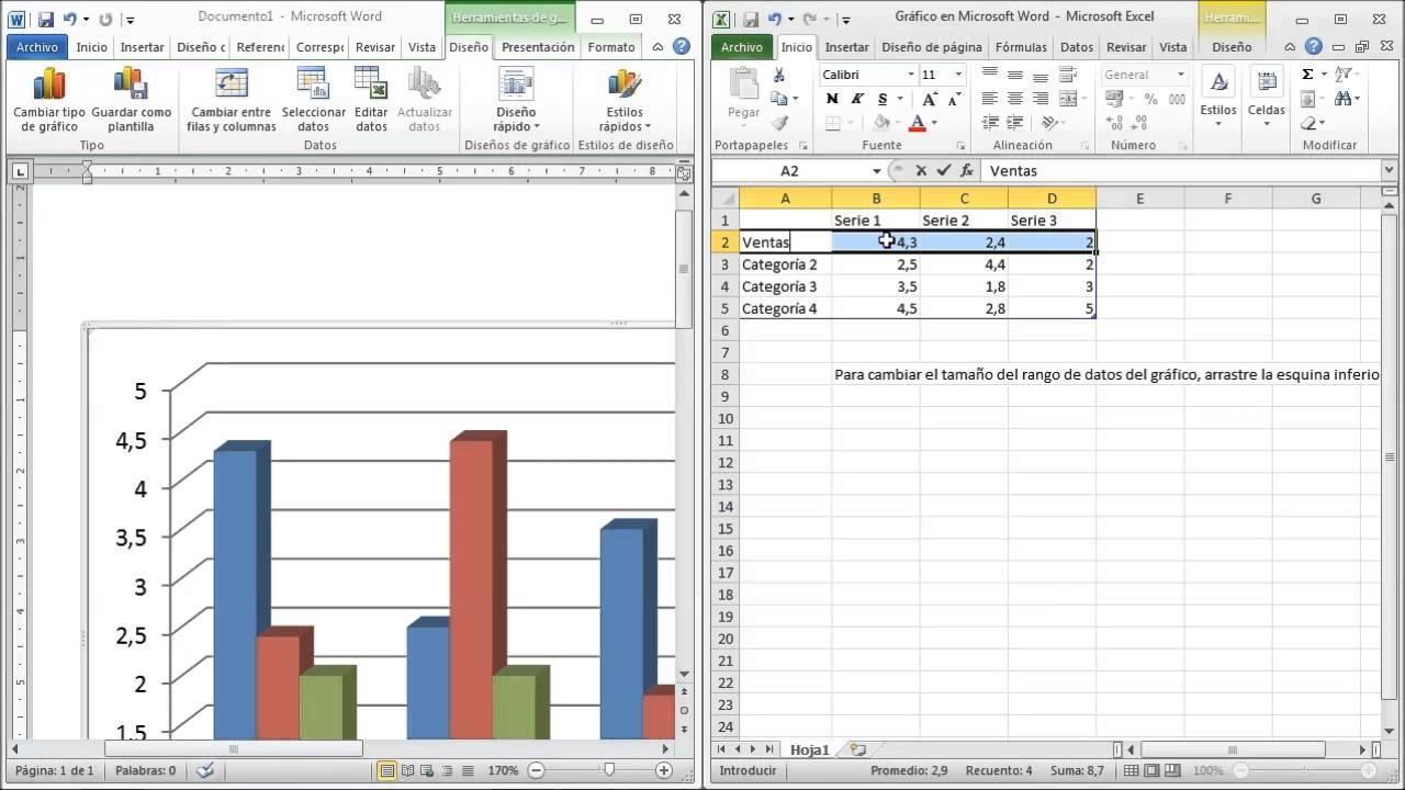 Como crear Graficos con Microsoft Word 2010 - YouTube