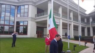 AGTD2017 001 Lorena Ochoa raising Mexico Flag at WGHOF 3 14 17