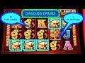 DANCING DRUMS SLOT MACHINE BIG WIN | 22 FREE GAMES | 4 RETRIGGERS | MAX BET | ENCORE LAS VEGAS|