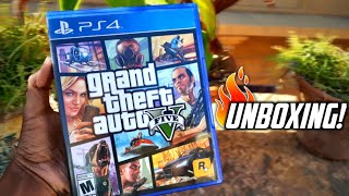 🔥GTA 5 PlayStation 4 (PS4) Unboxing And Gameplay - In Hindi