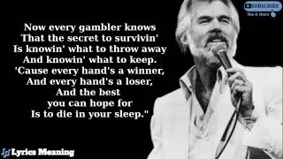 Kenny Rogers | Live Version - The Gambler | Lyrics Meaning - YouTube