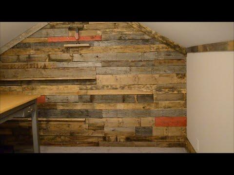 Pallet wall secret door - YouTube
