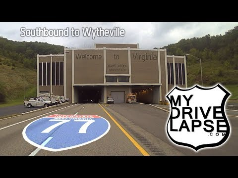 Into Virginia on Interstate 77, two tunnels, Wytheville