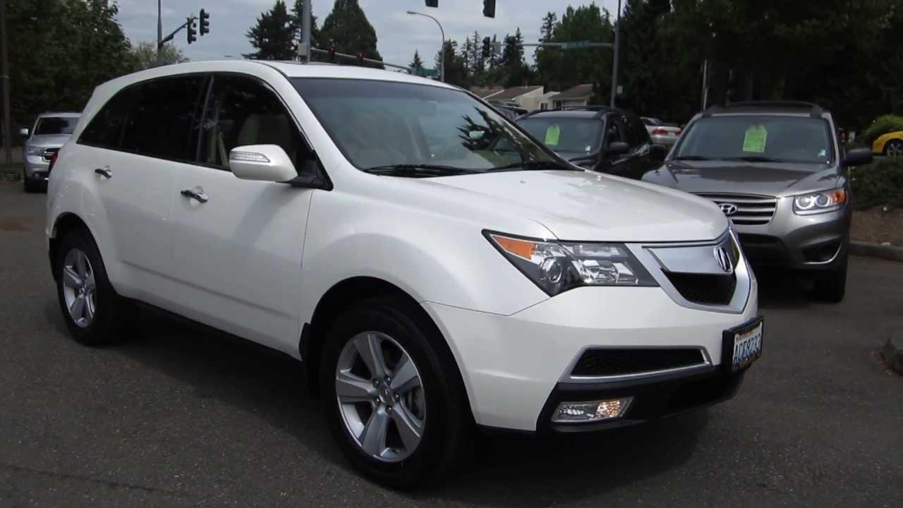 All Types 2010 mdx : 2010 Acura MDX, Aspen White Pearl - STOCK# 13956A - Walk around ...