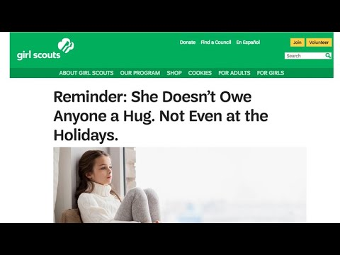 Viral Girl Scout post says don't force your daughter to hug relatives
